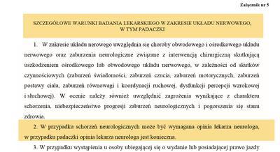 Badanie neurologiczne kandydatów na kierowców z padaczką