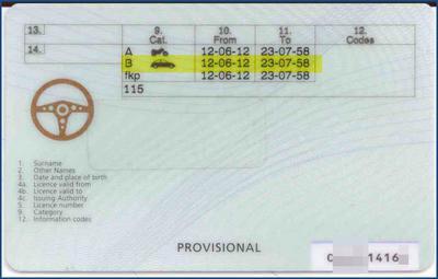 Prawo jazdy zagraniczne - provisional driving licence